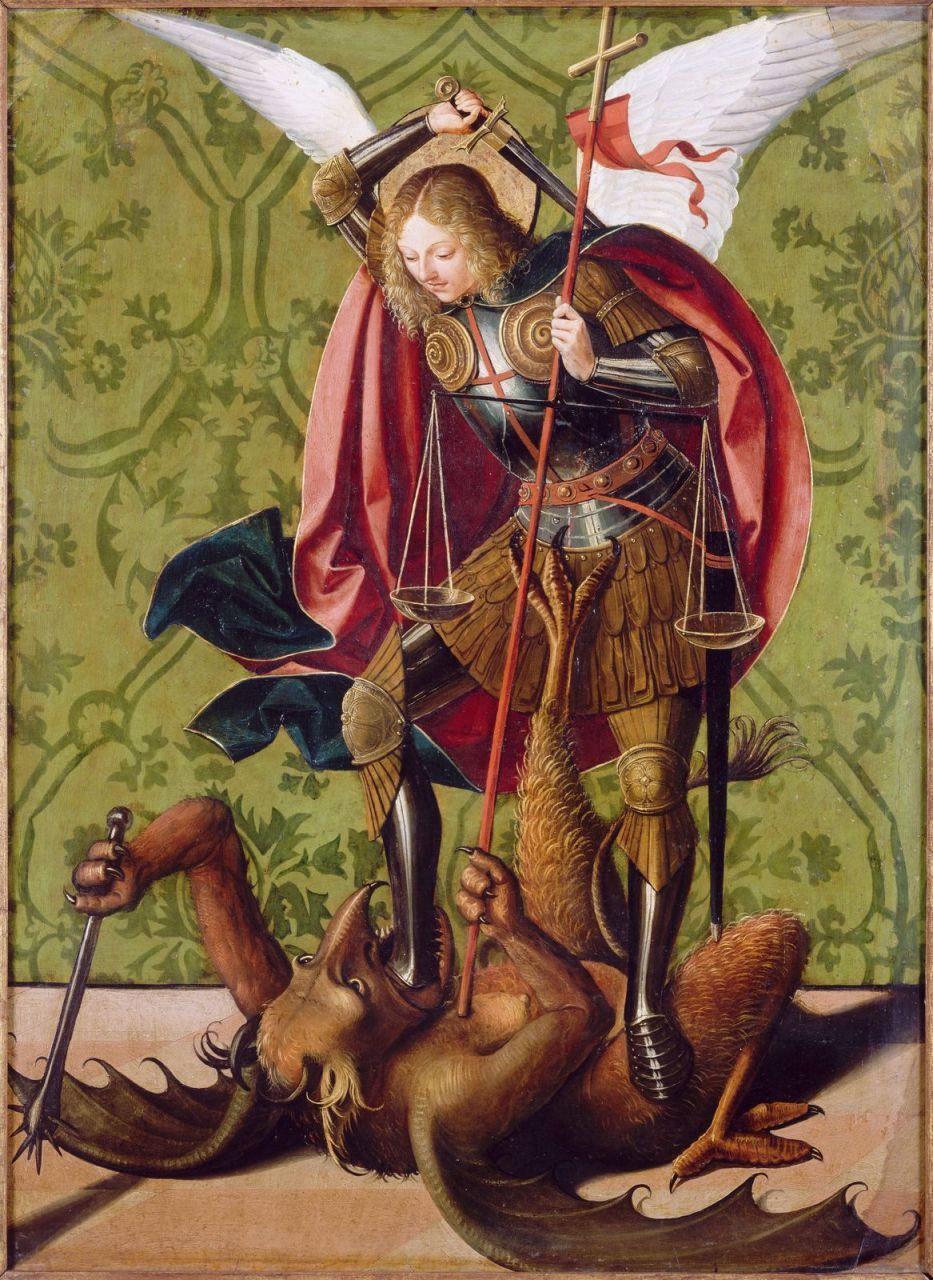 """Résultat de recherche d'images pour """"archange saint michel terrassant le dragon dessin"""""""